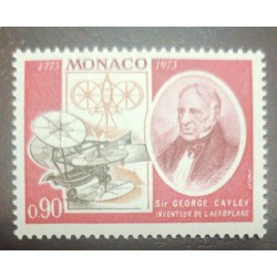 O) 1973 MONACO, GEORGE CAYLEY, AVIATION PIONEER, GOVERNABLE PARACHUTES, SAILPLANE, MNH