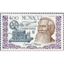 O) 1987 MONACO,ELECTRICAL TELEGRAPH, SAMUEL MORSE,MNH