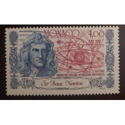 O) 1987 MONACO, ISAAC NEWTON, NEWTON´S THEORY OF GRAVITY, MNH