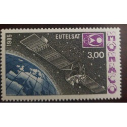 O) 1985 MONACO, EUTELSAT ORBITING EARTH EUROPEAN, TELECOMUNICATIONS, SATELLITE, SC 1495, MNH