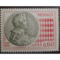 O) 1974 MONACO, PRINCE HONORATO GRIMALDI, HONORE II, COIN BY 1624, SC 927, MNH