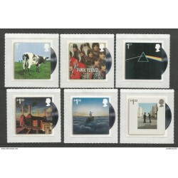 RJ) 2016 ENGLAND, PINK FLOYD, COW, CD'S, LANDSCAPE, SET OF 6 ADHESIVE-STICKER, XF