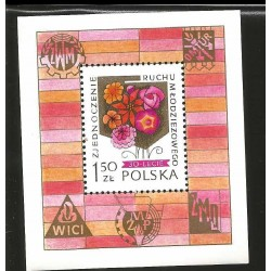 I) 1978 POLAND, FLOWERS, 30TH ANNIV. OF POLISH YOUTH MOVEMENT, SOUVENIR SHEET, MN