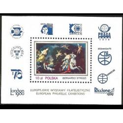 I) 1977 POLAND, THE RAPE OF EUROPA, BY BERNARDO, EUROPEAN PHILATELIC EXHIBITIONS, SOUVENIR SHEET, MN