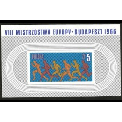I) 1966 POLAND, LONG DISTANCE RACE, EUROPEAN ATHLETIC CHAMPIONSHIPS, BUDA-PEST, SOUVENIR SHEET, IMPERFORATED, MN