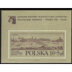 I) 1973 POLAND, POZNAN 1740 BY F. B. WERNER, SIMULATED PERFORATIONS, FILATELY EXPOSITION, SOUVENIR SHEET, MN