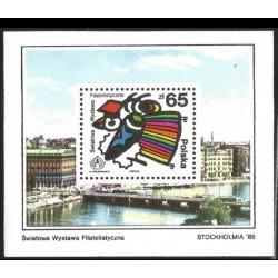 I) 1986 POLAND, STOCKHOLM CITY, WORLD PHILATELIC EXHIBITION, SOUVENIR SHEET, MN