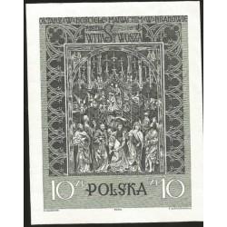 I) 1933 POLAND,THE VEIT STOSS ALTAR, IMPERFORATED, SOUVENIR SHEET, MN