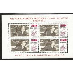 I) 1970 POLAND, LENIN (1870-1924), RUSSIAN COMMUNIST LEADER, SOUVENIR SHEET OF 4, MN