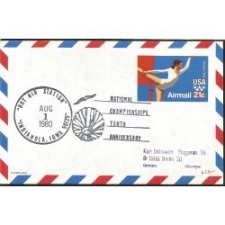 J) 1980 UNITED STATES, OLYMPICS NATIONAL CHAMPIONSHIP TENTH ANNIVERSARY, POSTCARD