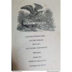 O) MEXICO, CATALOGUE, MEXICO EXPORTA, CONSTRUCTION MATERIAL, COTTON THREADS, BICYCLES, ELECTRONIC COMPONENTS, PIPELINES,