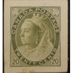 J) 1897 CANADA, QUEEN VICTORIA, AMERICAN BANK NOTE, DIE PROOF, IMPERFORATED
