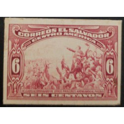 J) 1921 EL SALVADOR, DELEGATE ACCOMPANIED BY OTHER PROCEEDS, GIVING UP THE PEOPLE, 6 CENTS RED, AMERICAN