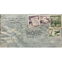 L) 1960 CHILE, CHILEAN ANTARCTIC, DECREE, THE ARAUCANA, PURPLE, 20P, TRAIN, AIRPLANE