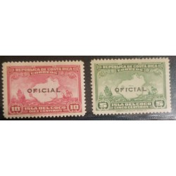 A) 1936, COSTA RICA, COCO ISLAND STAMPS WITH OFFICIAL PRINT ENVELOPE, 10 Y 5c, MNH, LIGHTLY TONED