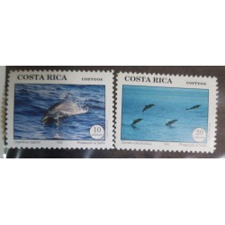 A) 1993, COSTA RICA, DOLPHIN PROTECTION, 2 VALUES
