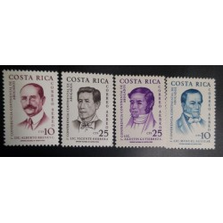 A) 1961, COSTA RICA, CONTINENTAL CONGRESS OF LAWYERS, IN GRAY AND BLUE COLOR, AIR MAIL, 10 ₡, MNH