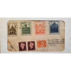 I) 1943 NEDERLAND, QUEEN WILHELMINA, HALL OF KNIGHTS, THE HAGUE, BLACK CANCELLATION