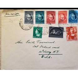 I) 1940 NEDERLAND, QUEEN WILHELMINA, SEA HORSE, JOHAN DE WITT, CHILD, SET OF 5