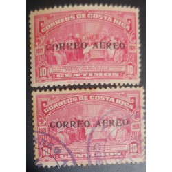 A) 1921, COSTA RICA, IN COMMEMORATION OF THE FIRST PAN AMERICAN POSTAL CONGRESS