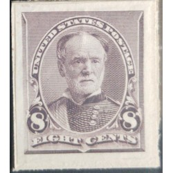 A) 1900, USA, GENERAL TECUMSEH SHERMAN, 8c, DARK VIOLET BROWN, AMERICAN BANK NOTE