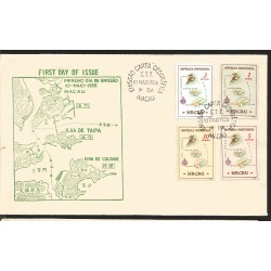 L) 1956 PORTUGAL, MAP OF COLONY, MACAU, FDC