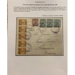 A) 1909, PARAGUAY, COVER PORTASUNCION TO STEAMSHIP JAVARY.