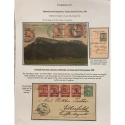 A) 1908, PARAGUAY, POSTCARD FROM PARAGUARI TO VIENNA