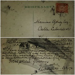 I) 1923 NEDERLAND, STAMP RED, CIRCULATED COVER FROM NEDERLAND TO VIBORA, HAVANA, BLACK CANCELLATION