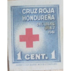 A) 1941, HONDURAS, HONDURAN RED CROSS, DIE PROOF, AMERICAN BANK NOTE, 1c