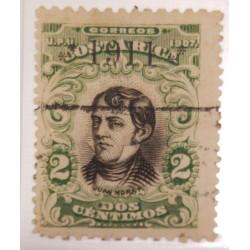 A) 1911, COSTA RICA, JUAN MORA, OVERLOAD, GREEN, FAKE NICE REFERENCE