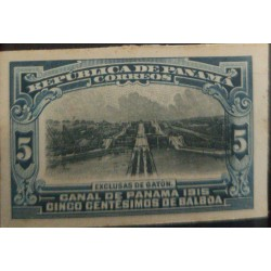 A) 1915, PANAMA, CANAL DE PANAMA, EXCLUSIVE FROM GATUN, 5B/