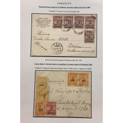A) 1908, PARAGUAY, POSTCARD FROM ASUNCION TO POTSDAM GERMANY,