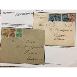 A) 1908, PARAGUAY, COVER FROM SAN BERNARDINO TO VIENNA, AUSTRIA