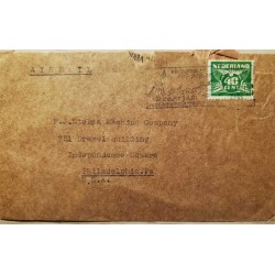 I) 1948 NEDERLAND, GULL, ESMERALD, AIR MAIL, CIRCULATED COVER FROM NEDERLANDS TO PHILADELPHIA, USA, BLACK CANCELLATION