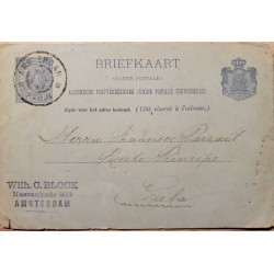 I) 1927 NEDERLAND, QUEEN WILHELMINA, LIGHT ULTRA, POSTCARD