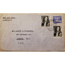 I) 1946 NEDERLAND, GULL, ULTRA STAMP, SET OF 2, CORNELIS EVERTSEN DE JONGSTE, 1642- 1706, AIR MAIL