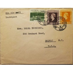 I) 1948 NEDERLAND, QUEEN WILHELMINA, THESE STAMPS WERE USED ON BOARD DUTCH WAR