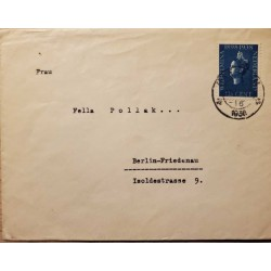I) 1938 NEDERLAND, REIGN OF QUEEN WILHELMINA, 40TH ANNIVERSARY, CIRCULATED COVER FROM NEDERLAND TO BERLIN, BLACK CANCELLATION