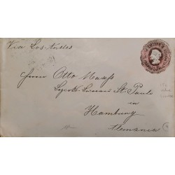 J) 1897 CHILE, POSTCARD, CIRCULATED COVER, FROM CHILE TO HAMBOURG, VIA LOS ANDES