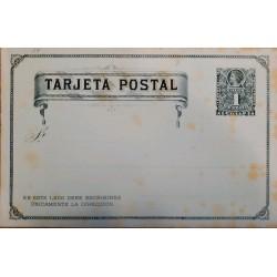 J) 1897 CHILE, COLON 1 CENT, POSTCARD, POSTAL STATIONARY, XF