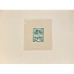 J) 1920 CIRCA-ARGENTINA, DIE SUNKEN CARDBOARD, AMERICAN BANK NOTE, 30 PESOS, BLUE