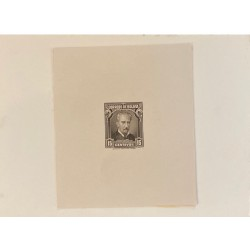 J) 1935 BOLIVIA, DIE SUNKEN CARDBOARD, AMERICAN BANK NOTE, MARIANO BAPTIST, 15 CENTS BROWN