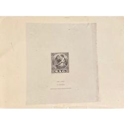 J) 1940 SLOVENIA, DIE SUNKEN CARDBOARD, AMERICAN BANK NOTE, FRIAR, GRAY