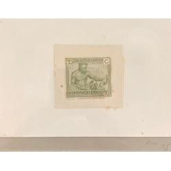 J) 1920 CIRCA-BELGIUM, DIE SUNKEN CARDBOARD, AMERICAN BANK NOTE, MEN, 30 CENTS OLIVE GREEN