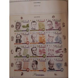 A) 1997, COLOMBIA, HISTORICAL FIGURES, MINISHEET