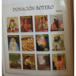 A) 2001, COLOMBIA, DONATION OF BOTERO MUSEO ANTIOQUIA, ART, PAINTINGS, MINISHEET