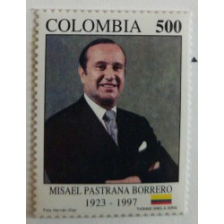 A) 1998, COLOMBIA, MISAEL PASTRANA BORRERO, FORMER PRESIDENT OF THE REPUBLIC, THOMAS GREG & SONS