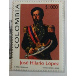 A) 1999, COLOMBIA, II CENTENARY OF THE BIRTH OF THE FORMER PRESIDENT OF DE REPUBLIC JOSE HILARIO LOPEZ, 1798 - 1869