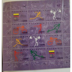 A) 1999, COLOMBIA, XIII PANAMERICAN SPORTS GAMES IN WINNIPEG, CANADA, MINISHEET